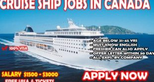 Cruise Ship Jobs in Canada