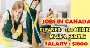 cleaner needed in Canada