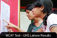 MCAT Entrance Test Results