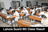 lahore board result 8th class