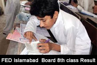federal board result 8th class 2017