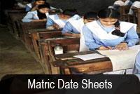 matric-class-date-sheet