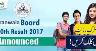 Gjuranwala-Board-10th-Result-2017-announced