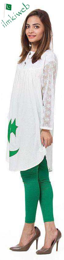 Green-and-white-kurta-dress-independence-day-pakistan