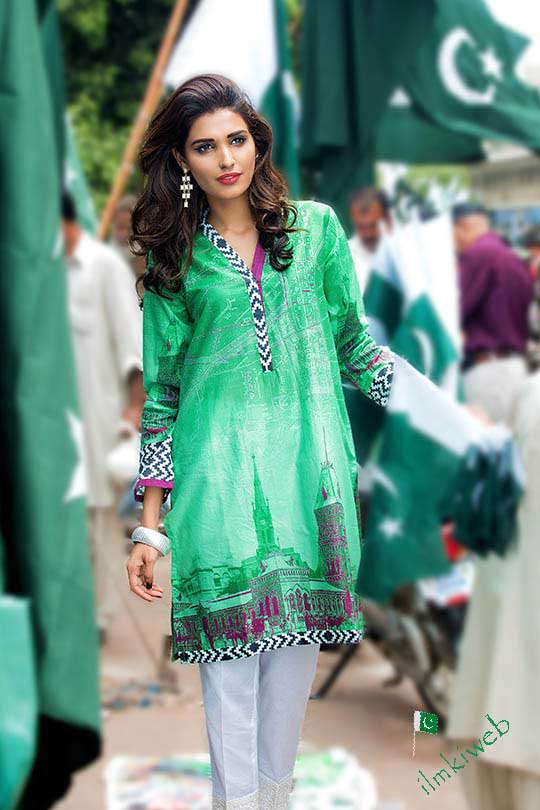 Gul-Ahmed-suits-for-Independent-day-of-Pakistan