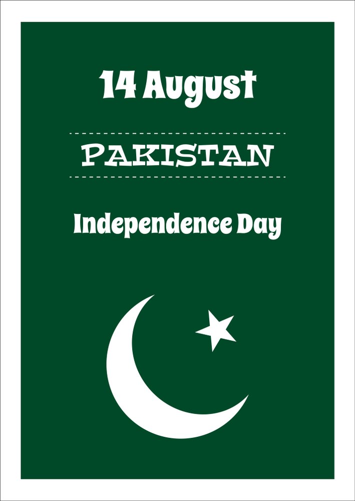 Pakistan 14 august independence day sticker