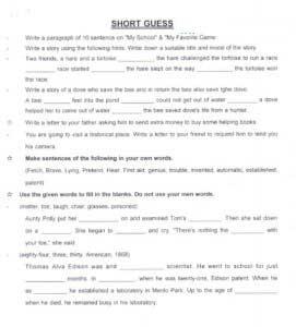 English-guess-paper-5tn-class