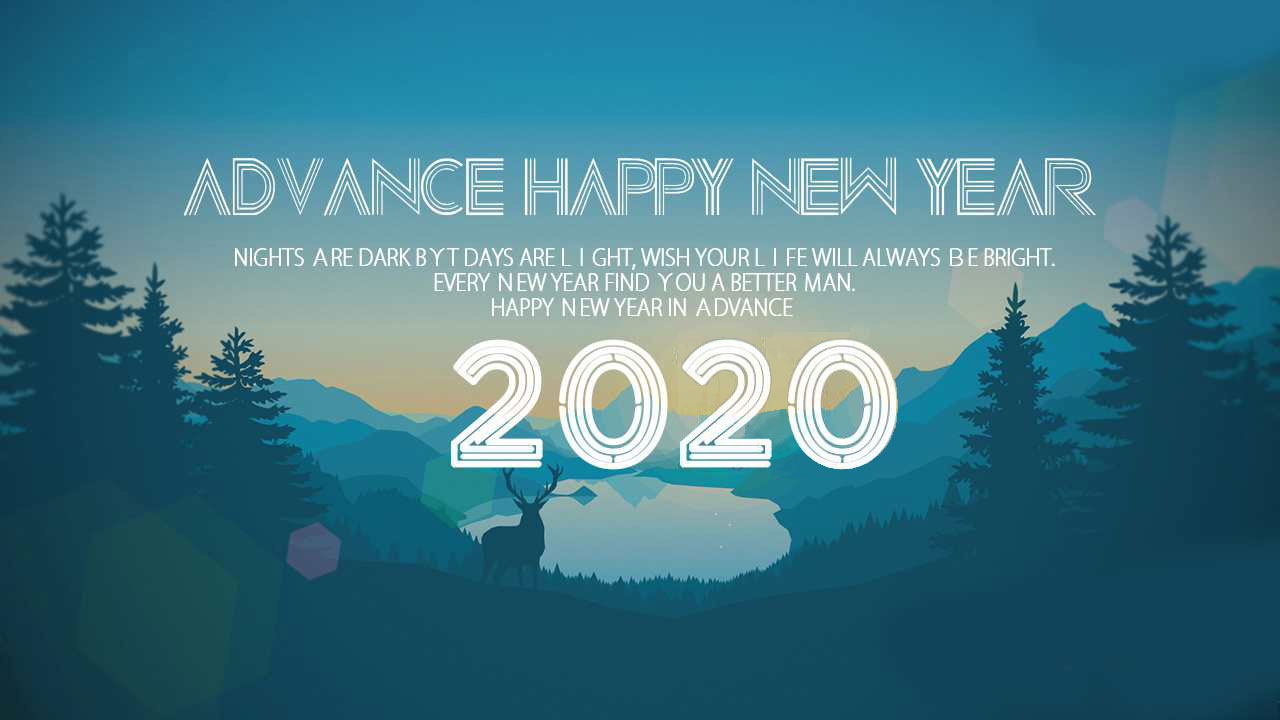 Advanced Happy New Year 2020 Image